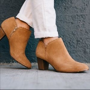 Jack Rogers • Suede Scalloped Booties